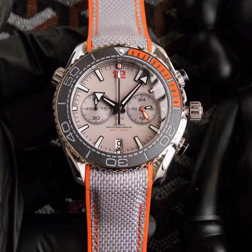 أعلى جودة عالية vk الكوارتز ساعات للرجال الرياضة كرونوغرافي ساعة المطاط حزام سيد رجل ساعة