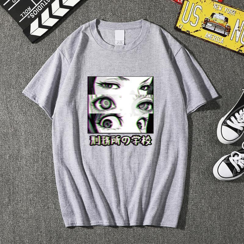 Erkek T-Shirt 2021 T-shirt Naruto Baskı Harajuku Unisex Kazak Japon Anime Komik Sokak Giysileri Moda Günlük