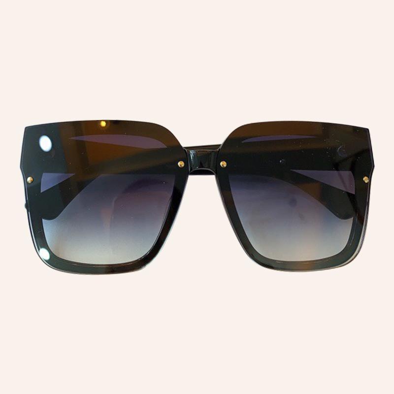 Dimensión Great Square Mujeres Big Armagedón Coloreado Gafas de sol Ocular Unisex Mirror Hip Hop Shades 5ZFT