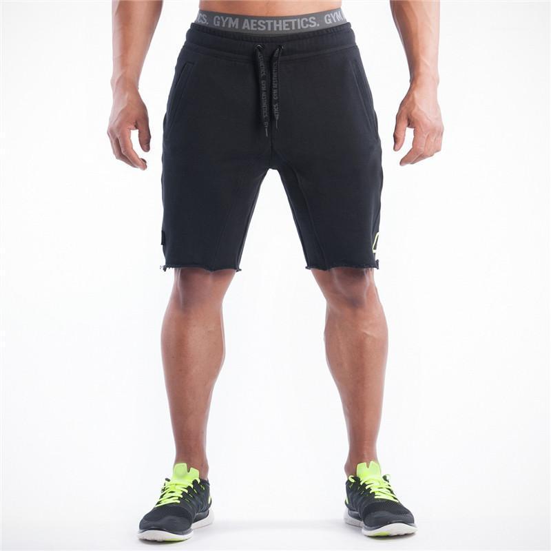 Мужские шорты мужчины мужские стройные подходят короткие брюки фитнес бодибилдинг Jogger Mens бренд прочные спортивные штаны разминки хлопок шорты1
