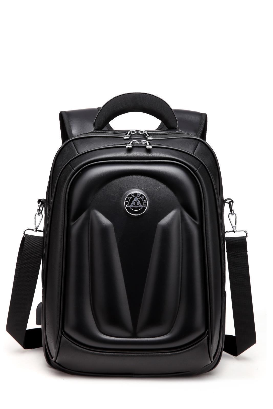 Biao Wang Grande Capacità Business Tempo libero Sport all'aperto Studente Studente Schoolbag PU in pelle Backpack Computer Uomo