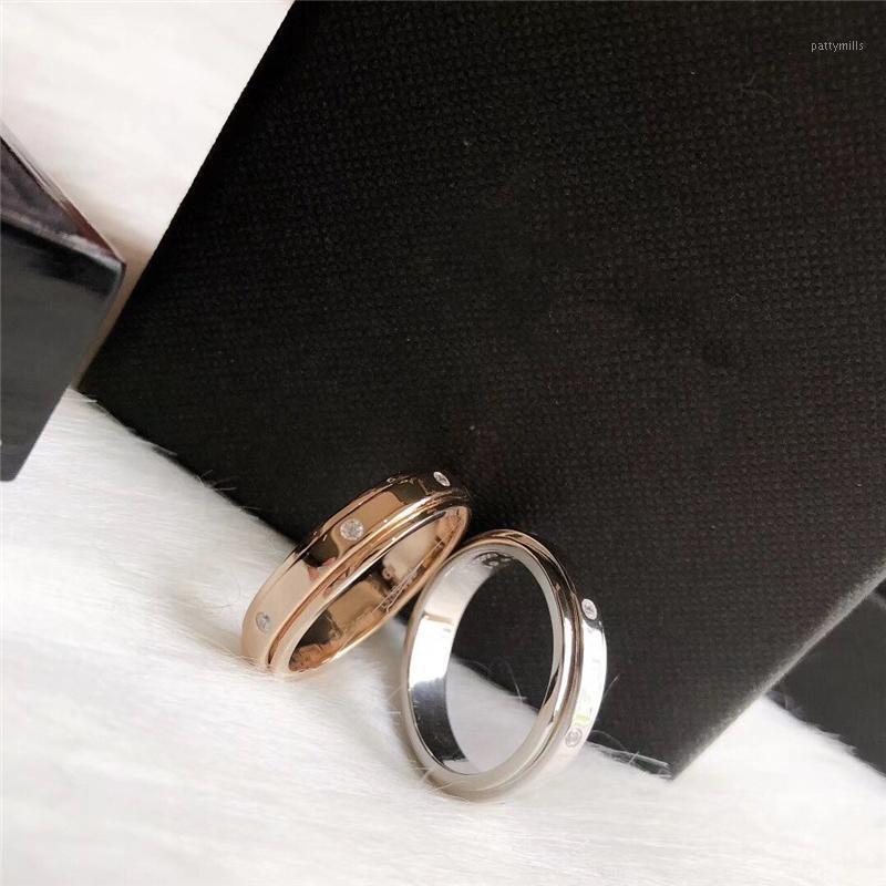 Marca P 925silver Revolving Ring Tamanho No6 No7 No8 Gems Anel de Ouro para Masculino e Feminino1