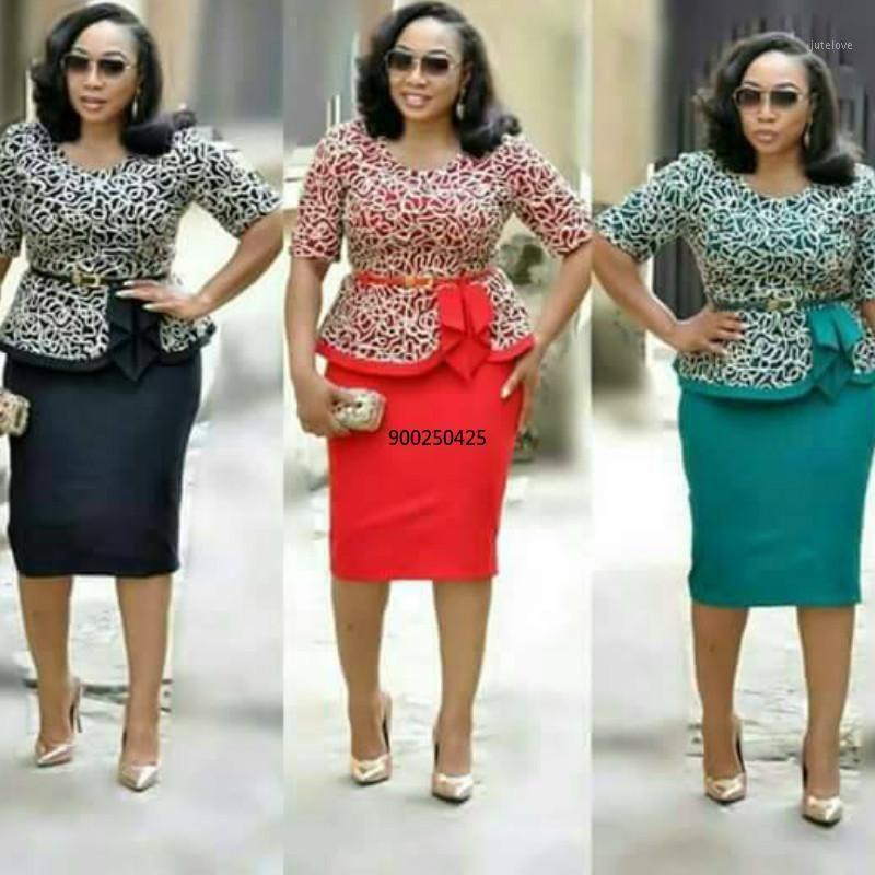Этническая одежда 2021 прибытие осень элегантный модный стиль африканских женщин плюс размер платье XL-5XL1