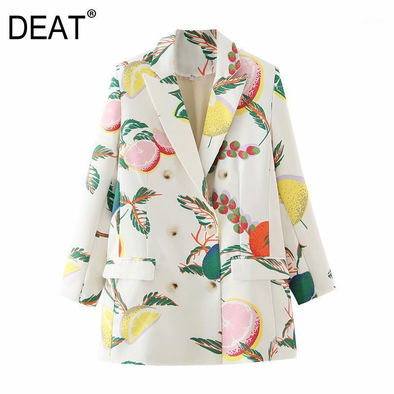 [Vestito] Donne Stampate Colore Pocket Blazer Blazer Nuovo Giacca a maniche lunghe a maniche lunghe giacca moda moda moda marea autunno inverno 2020 13U1481