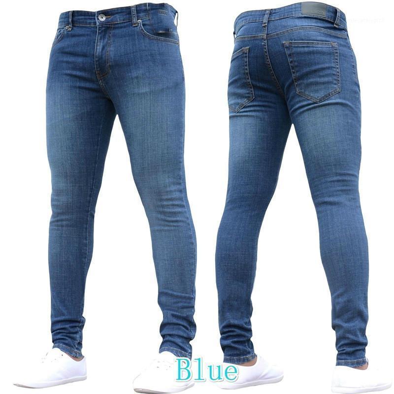 Jeans Menores Verano Color Puro Movimiento Flaco Hombres Denim Algodón Vintage Lavado Hip Hop Pantalones Pantalones Pantalones Trabajos S-3XL1