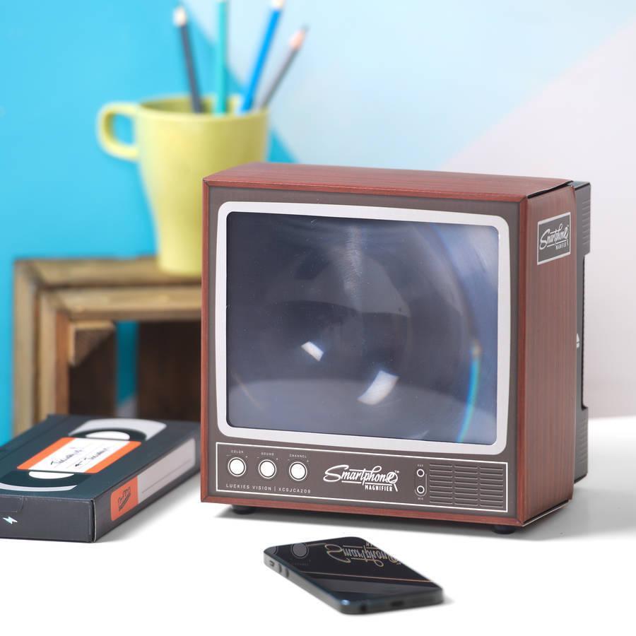2020 Retro TV Telefonbildschirm Video DIY Vergrößerer Verstärker Lupe Retro TV Erscheinungsbild
