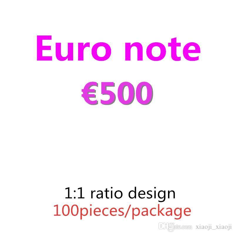 Top Quality 500 08 Euro Dollar Pound Soldi Fingere di copia Carta Regali Soldi 100pcs / Pack Prop e Collezione Forniture banconote GOCXJ