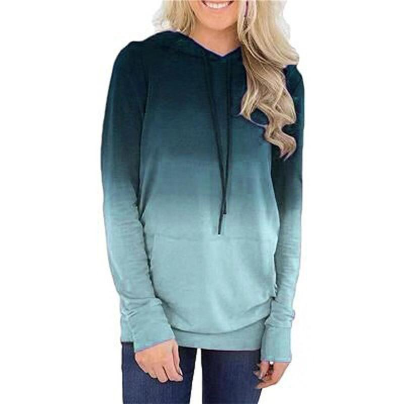 Manicotto lungo casuale di Moda Hoodies Donna Top signore felpe autunno Tops personale elegante caldi magliette felpate