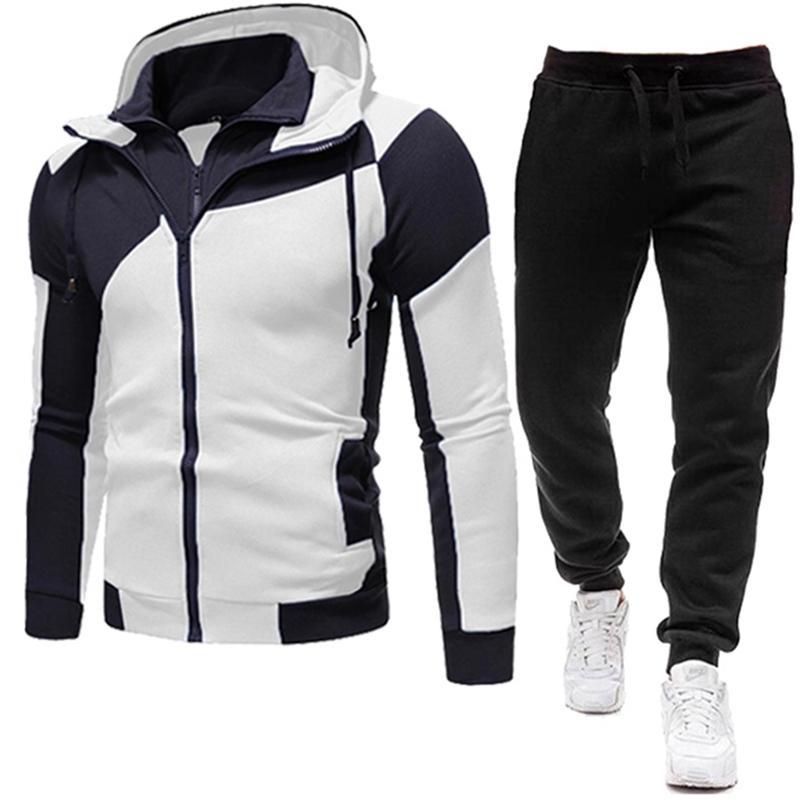 Yeni Marka Erkekler Giyim Setleri Eşofman 2 Parça Setleri Hoodies + Pantolon erkek Kazak Seti Spor Takım Elbise StreetWear Ceketler Ücretsiz Kargo LJ201124