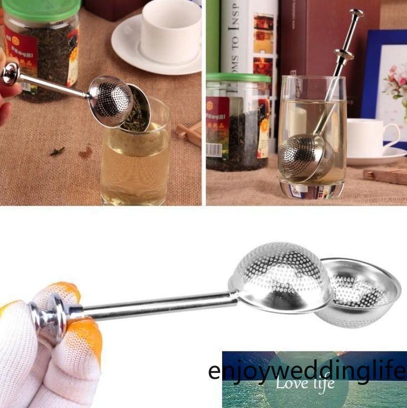 Cuillère en acier inoxydable de 18 cm de 18cm Cuillère rétractable Shape de balle en métal Spice Spice TeaR Filtre Infuser filtre Squier