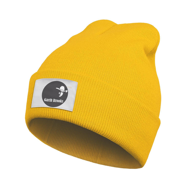 Mens Women Fashion Watch Beanie Hat Garth Brooks Logo Cuff Toboggan Roll Knitted Cap