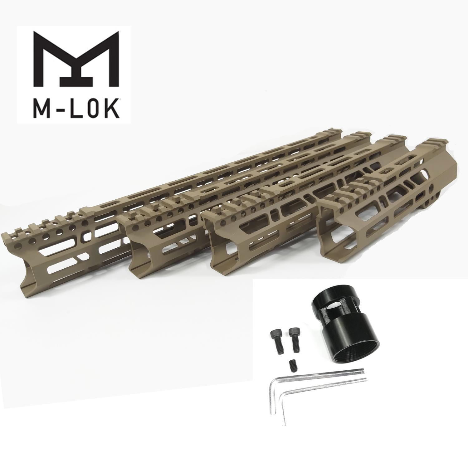 7/10/12/15 Inch Lightweight Clamp Mount Type M-LOK Handguards Edge CNC Chamfering For .223/5.56 Flat Dark Earth Color