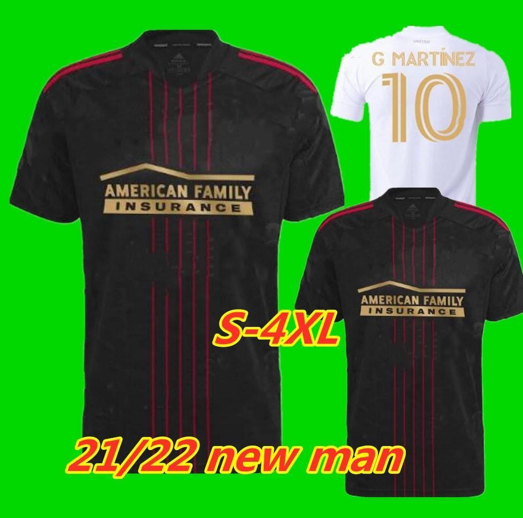 S-4XL 2021 2022 MLS Atlanta United FC Футбол Футбол Джерси Домашняя белый 21 22 G.martinez Martinez Nagbe Barcho Villalba Футбол Футбольные рубашки