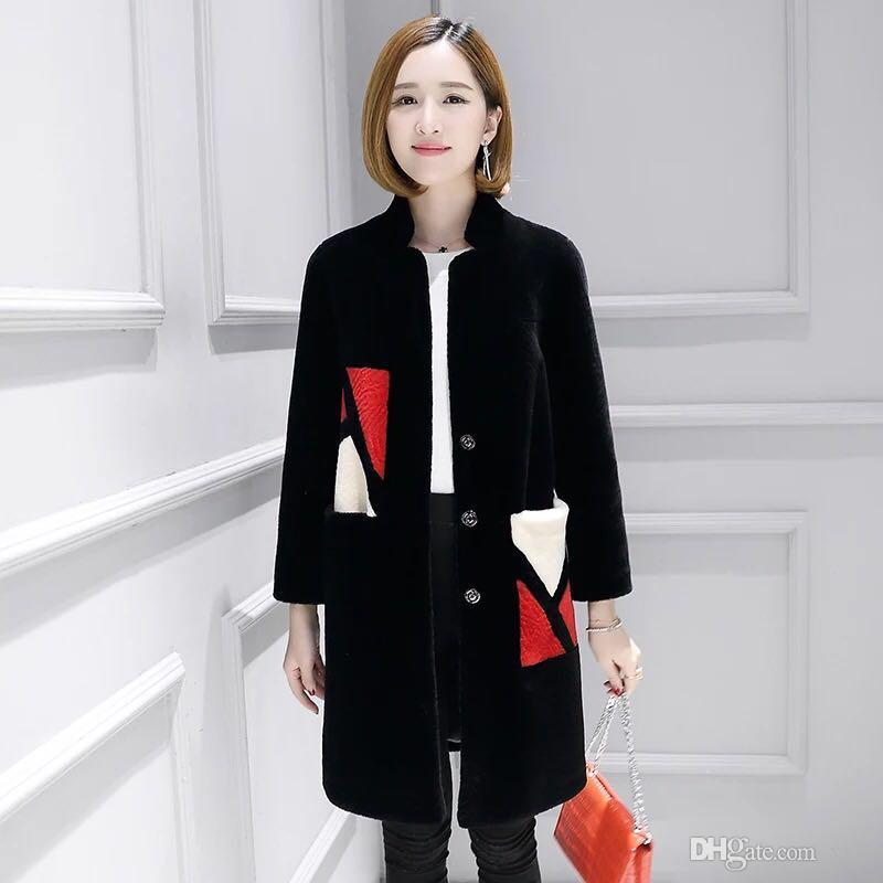Schermode Schaf Hohe Qualität Mantel 100% Pelz Frauen 2020 Weiche Warmwolle Weibliche Jacke Casaco Zjt418