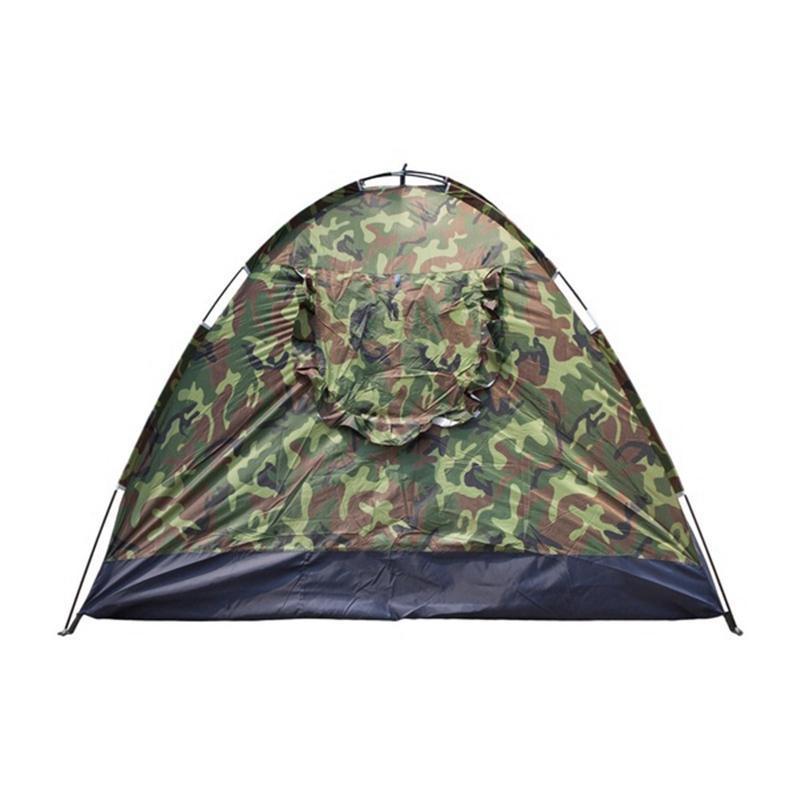 3-4person taşınabilir açık kamp çadır açık yürüyüş seyahat kamuflaj kamp uyuklama çadır