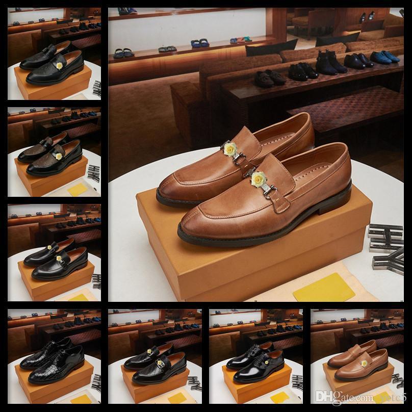 C5 2020 Retro Bullock Design Design Uomo Aziendale Scarpe formali classiche appuntamenti appuntiti scarpe in pelle di lusso uomo Oxford Dress Shoes 11