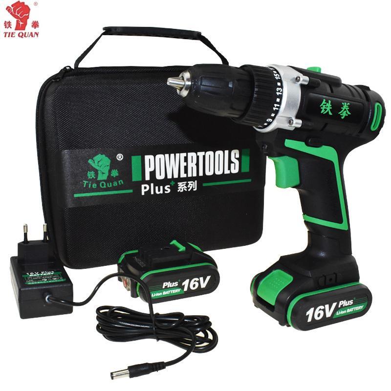 Strumenti di potenza 16V Drill Elettrico Drill Elettrico Drill batteria perforatrice elettrica per foratura elettrica Cacciavite batteria Mini Plus Borsa a mano T200324