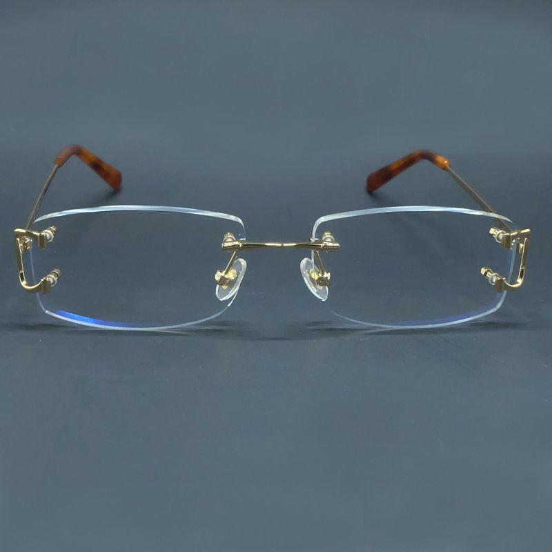 Gafas transparentes de hombre diseñador de lujo Carter Eye Marcos de ojo grande y claro.