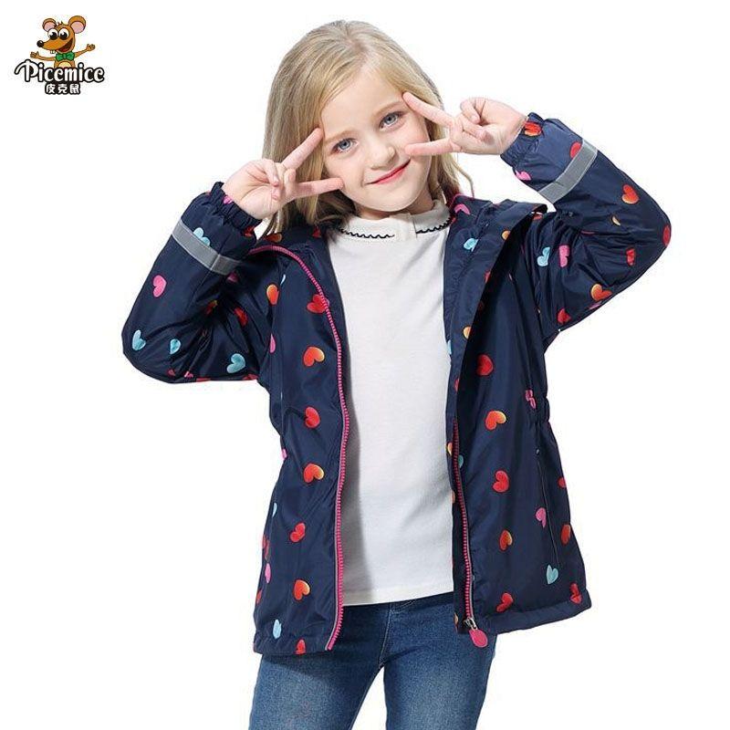 Kızlar Ceket Sıcak Polar Polar Su Geçirmez Bahar Sonbahar Rüzgar Geçirmez Ceketler Kızlar Mont Çocuk Kapüşonlu Çocuk Giyim 3-12 T 2011 için 201118