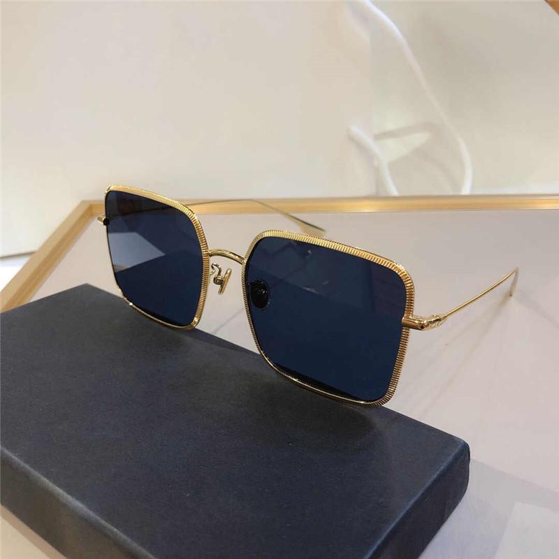 Modo quadrato a prova di UV di qualità grande elegante stile sottile elegante telaio in metallo full frame occhiali da sole gratis new uv-400 bicchieri wome qkbg