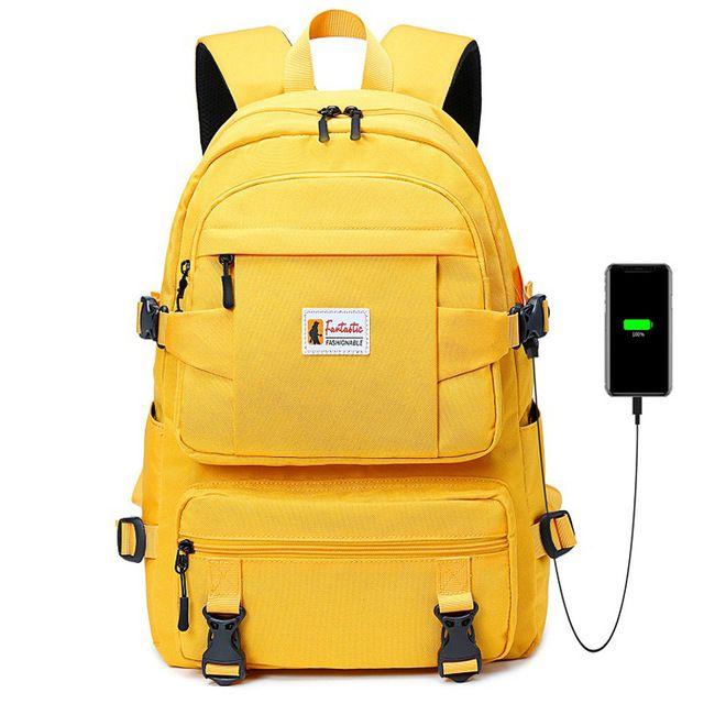 Sacs à dos jaune Mode Sacs scolaires pour enfants pour filles imperméables Oxford Grand sac à dos scolaire pour adolescents Schoolbag