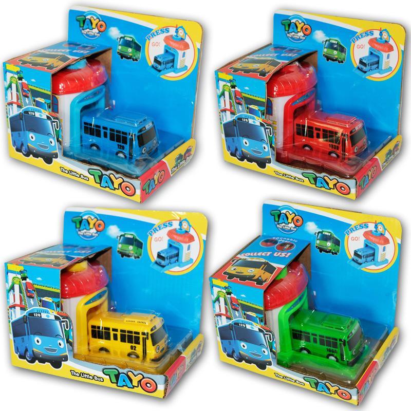 1PC bébé jouet voitures coréen dessin animé tayo le petit bus Mini plastique baby-bus pour enfants LJ200930