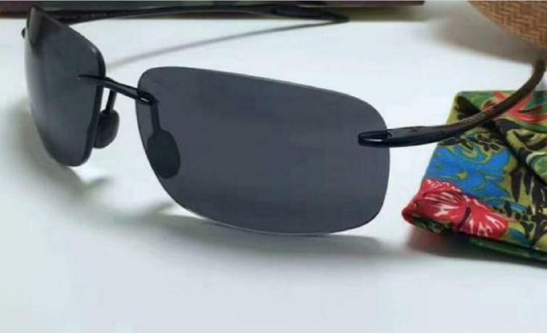 New Men Women 422 Sunglasses High Quality Polarized Rimless Lens Very good Sports Driving Sunglass With Case