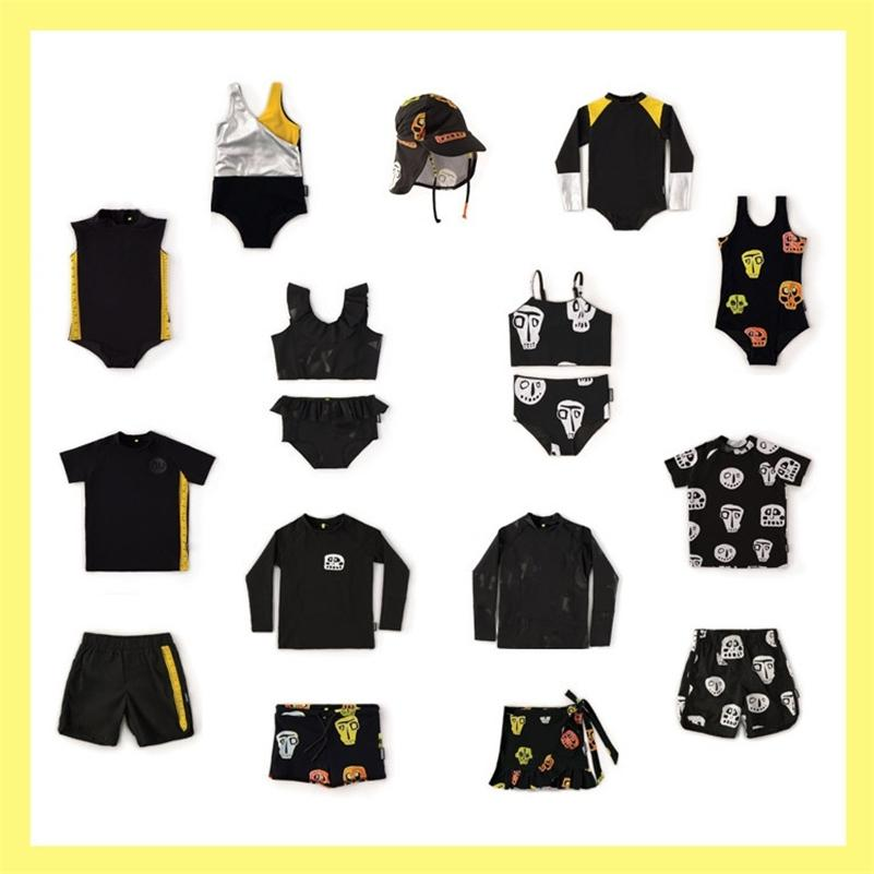 Toddler Boy Clothing Sets Skull shorts+ T shirts 2 pcs Swim Wears 1 piece Swim Suit Baby Boy Clothes Baby Girl Clothes Bikini LJ200814