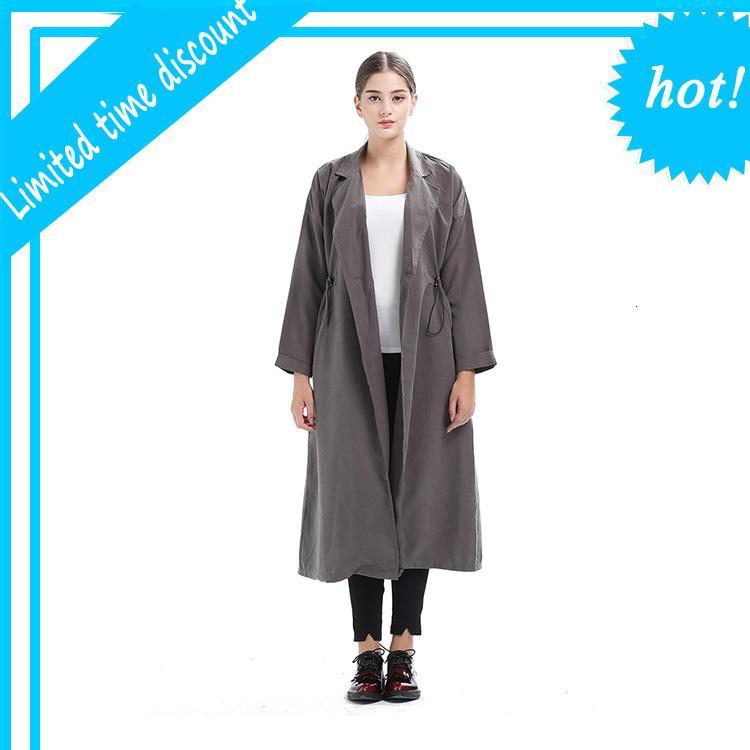 2019 new fashion Oxford fabric ladies long jacket