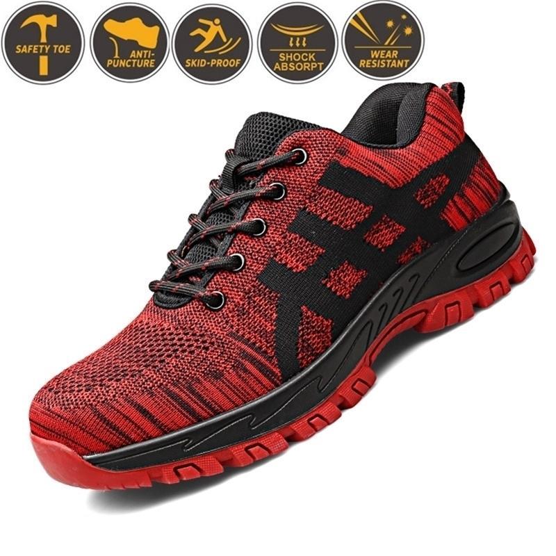 Baskets en acier indestructible Toe Toe Sécurité Boot Chaussures de travail anti-ponctues pour hommes Livraison Gratuite Y200915