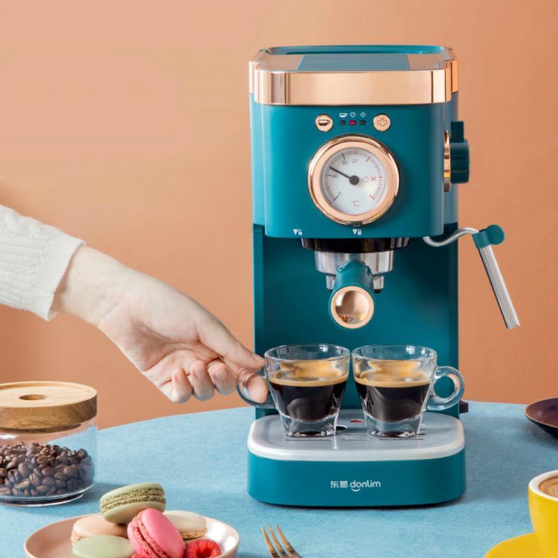 커피 로스터 JRM0218 가정용 기계 작은 이탈리아어 반자동 증기 우유 Froth Espresso American