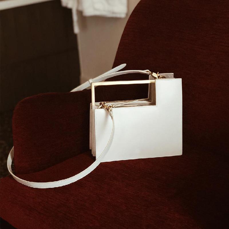 Fashion Metal Handle Box Type Women Handbags Organ Design Pu Women's Shoulder Bags Luxury Messenger Crossbody Bag Ladies Totes C0308