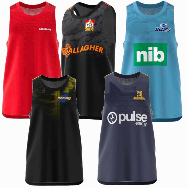 2019 2020 2021 Crusaders Blues Highlanders Hurricanes Rugby Jerseys Vest Tank Tops Treinamento Camisas S-3XL