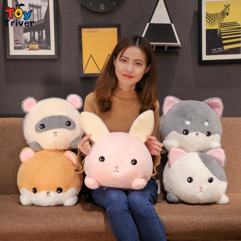 Kawaii Kaninchen Maus Hund Katze Bunny Plüschtiere Gefüllte Tiere Puppe Baby Kinder Kinder Jungen Mädchen Geburtstagsgeschenke Home Room Decor Y0106