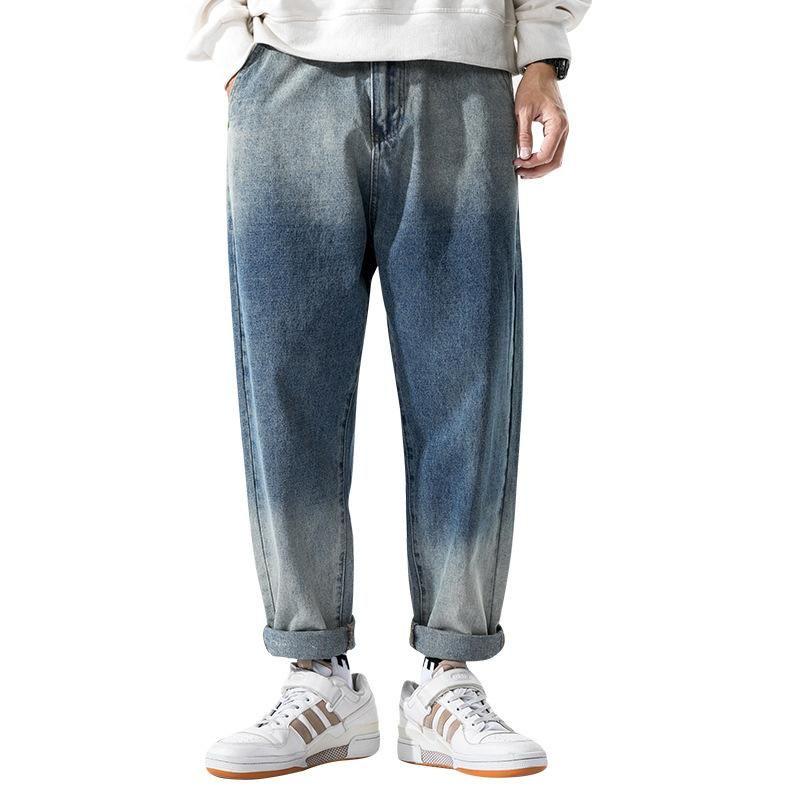Männer Hosen Frühling Black Koreanische Farben Jeans 2020 Mens Streetwear Blue Denim Hosen Männliche Moden Dünne Kleidung plus Größe