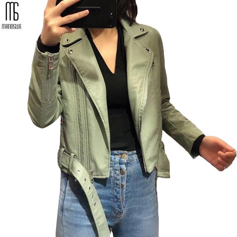 Chaqueta de la PU de la moda de la moda de la moda del ejército de la moda del ejército de la fausa de la mujer 2021 abrigo delgado de las mujeres del otoño