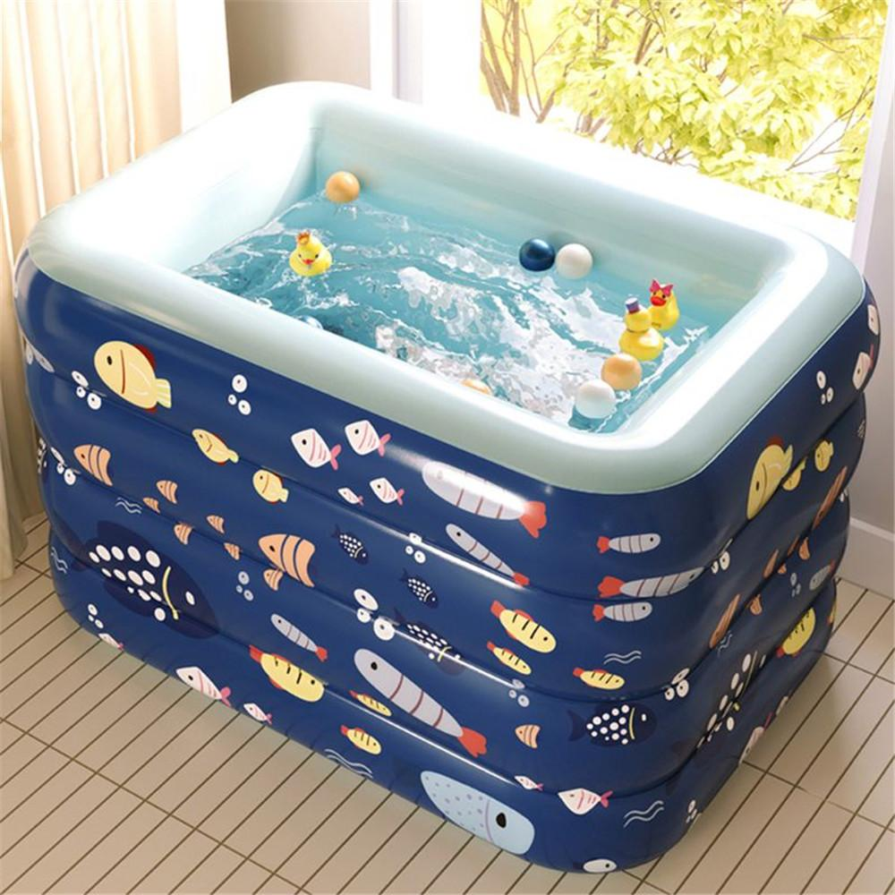 Automatic inflatable Pool High Quality 75cm H Children's Home Use Paddling Pool Customized Inflatable Swimming Pool Wireless Automatic