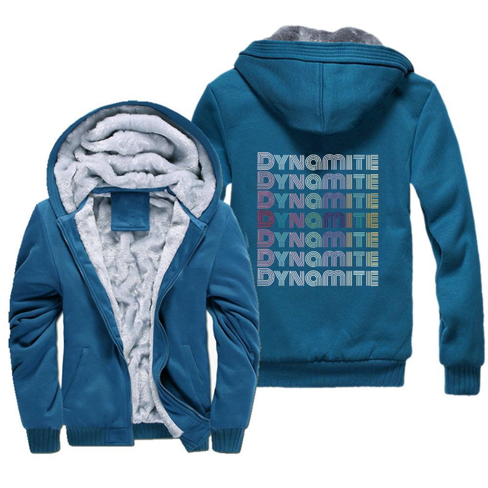Новый K POP KPOP Динамитная толстовка женщин зимние теплые толстые куртки Пальто повседневные K-POP Couscsuit с капюшоном плюс с капюшоном с капюшоном плюс толстовки 201120