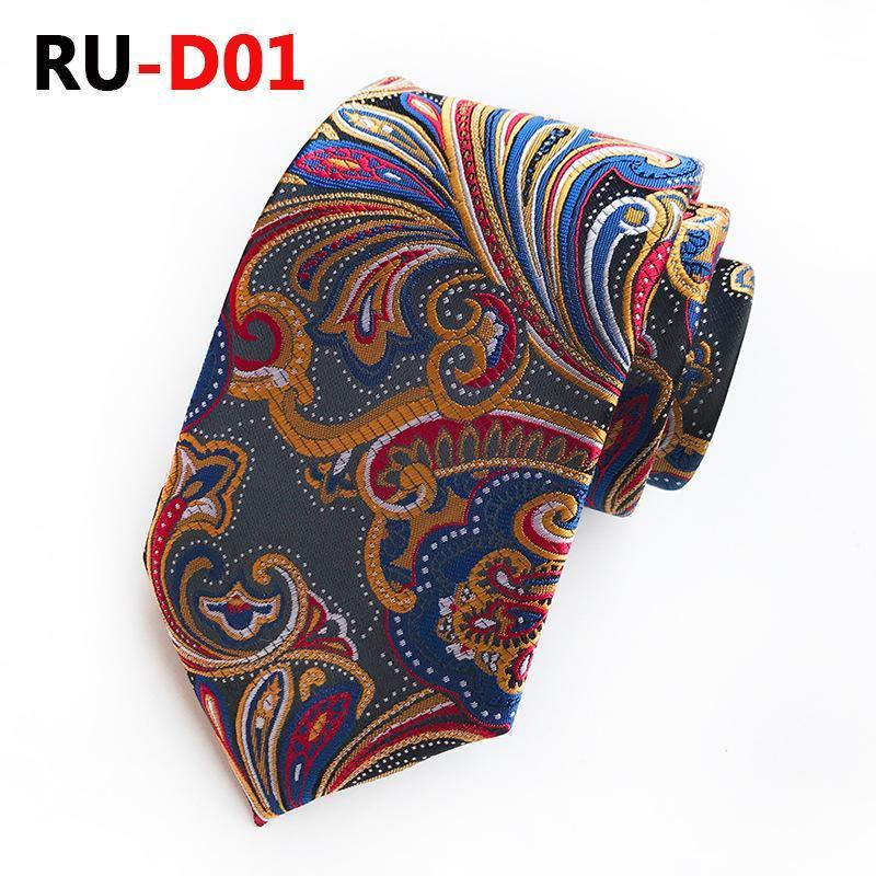 Cravates de col polyester neuves 8cm pour hommes Jacquard Cravates Homme Paisley Floral Camp Necks Crêche de mariage