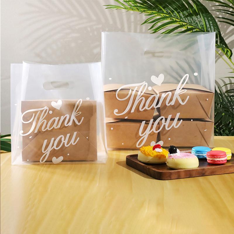 50 unids Gracias Torta Regalo Bolsas de plástico Candy Transparent Candy Wrapping Shopping1 Galletas de plástico Bolsas de caramelo Usted fiesta PVKHV