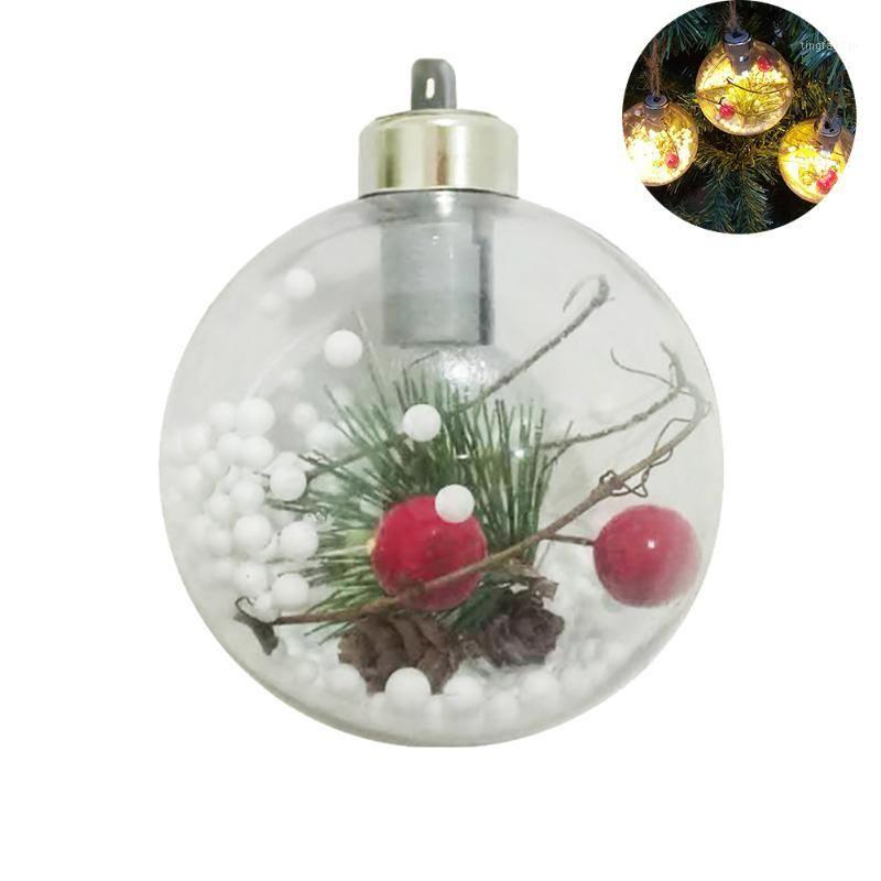 1pc 3 pulgadas de decoración navideña, luces de bolas, colgante decorativo, luces de bolas interior, como se muestra11