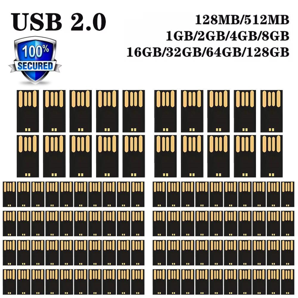 High speed Wholesale USB 2.0 memory flash 4GB 8GB 16GB 32GB 64GB 128G U disk semi-finished chip pendrive Free shipping