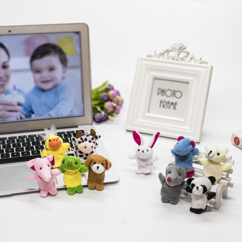Pequenos fantoches de dedo de animais pequenos brinquedos de bebê pai-criança brinquedos interativos storytelling adereços para bebês 7 * 3cm bebê bonecos brinquedo OWD3313