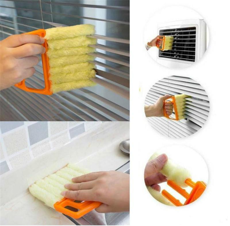 الأعمى نظافة مفيدة ستوكات نافذة تنظيف فرشاة الهواء مكيف المنفضة مصغرة مصراع نظافة قابل للغسل تنظيف القماش فرشاة