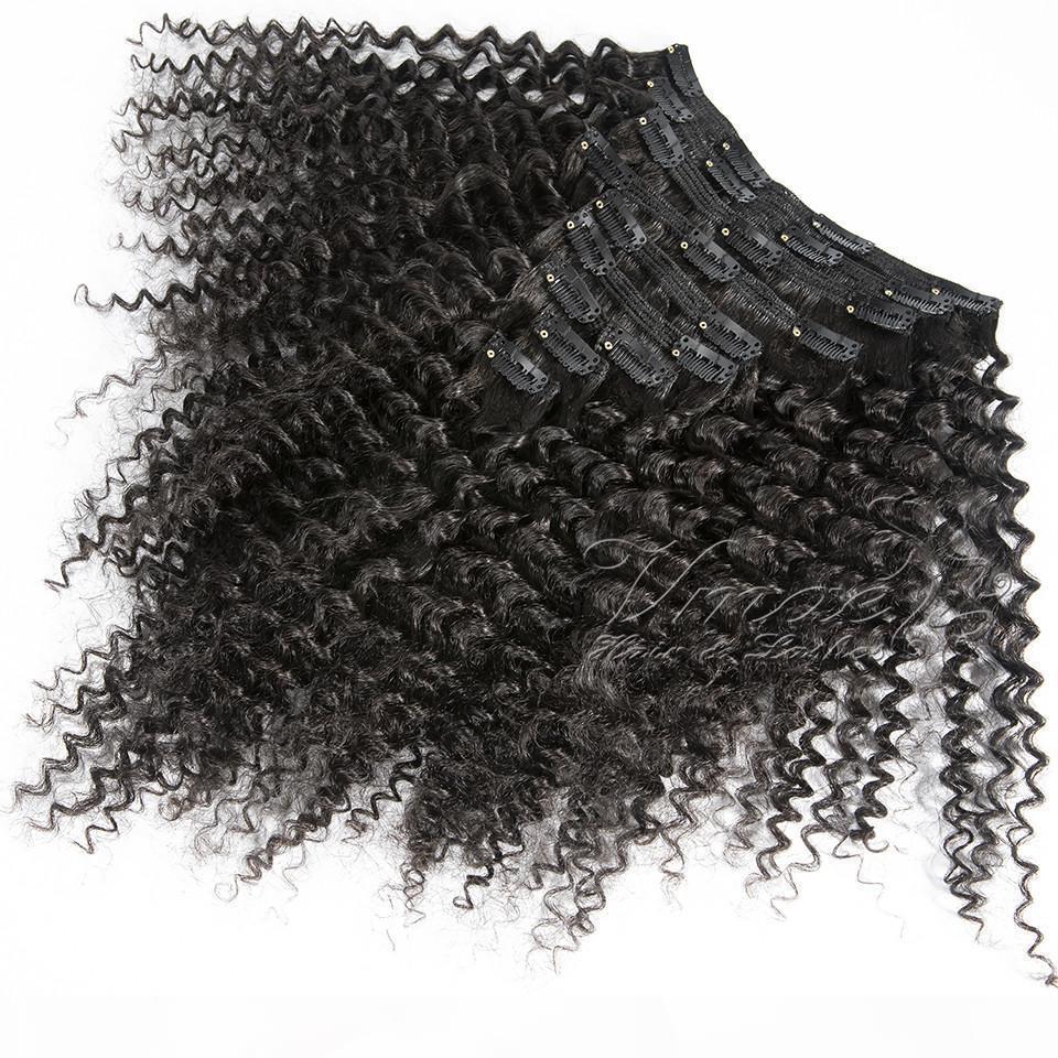 Peruanischer afro kinky curly clip im haar 3b 3c 4a 4b 4c clip in 100g 120g natürliche Farbe