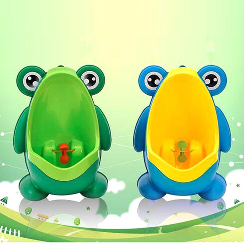 Новое поступление Baby Boy Potty Туалетная тренировка лягушка Детский стенд вертикальный писсуар мальчики Penico PEE младенческий малыш настенный 20111