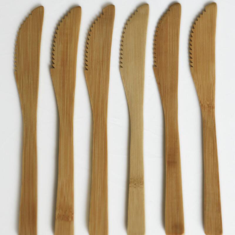 الصلبة الخيزران عشاء سكين قابلة لإعادة الاستخدام الخيزران الجبن سكين الزبدة جام الموزعات الطعام / خدمة إناء بالجملة DWD2992