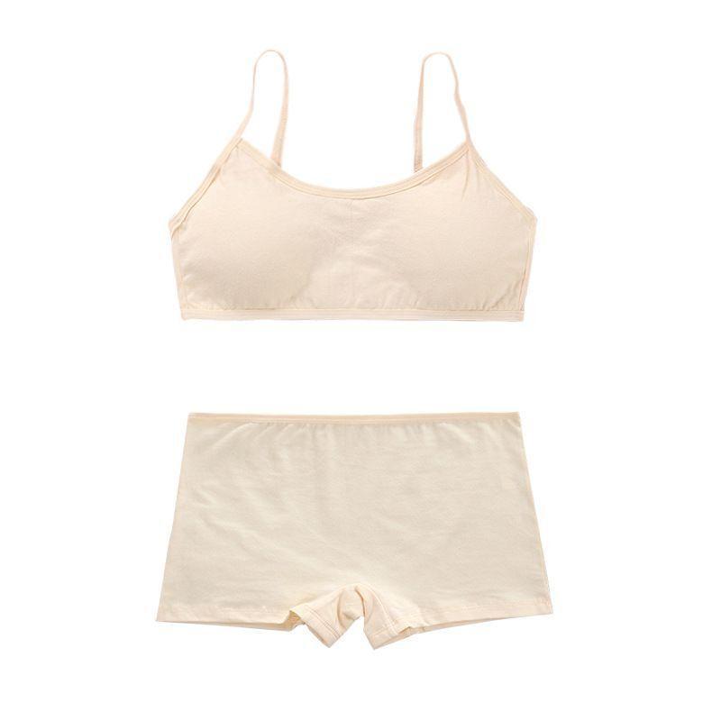 5sets / lot BH Set für Teenageräte Training BHs Mädchen Unterwäsche Set für Jugendliche Pubertät Mädchen Unterwäsche 8-14Years Y0126