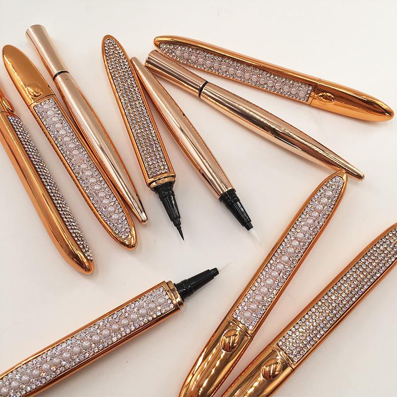 Ciglio autoadesivo autoadesivo per eyeliner glue glue penna trasparente nero marrone eyeliner magnete incolla gratuita per il trucco impermeabile per tutto il trucco impermeabile