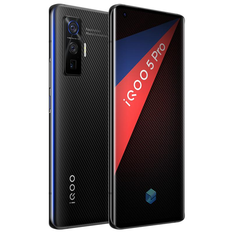"Original vivo iqoo 5 pro 5g Handy 12 GB RAM 256GB ROM Snapdragon 865 Octa Core 50MP NFC 4000mAh Android 6.56 ""Am gelöster Vollbild-Fingerabdruck ID FACE Weak-Handy"